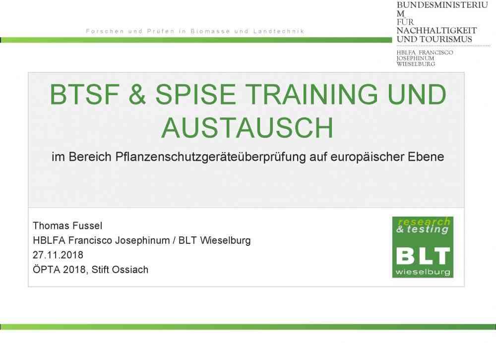 BTSF & Spise Training und Austausch
