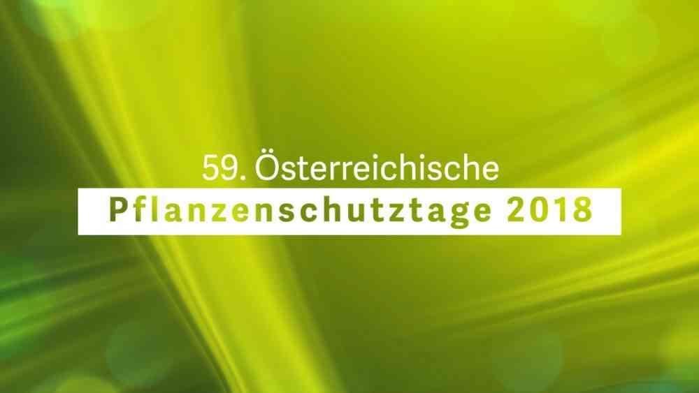 Österreichische Pflanzenschutztage 2018-Eröffnung