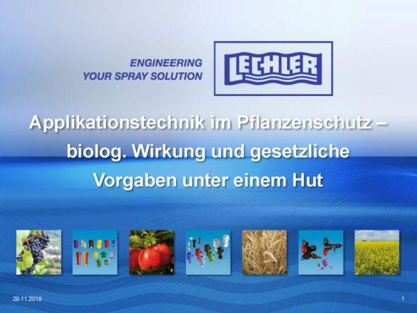 Applikationstechnik im Pflanzenschutz