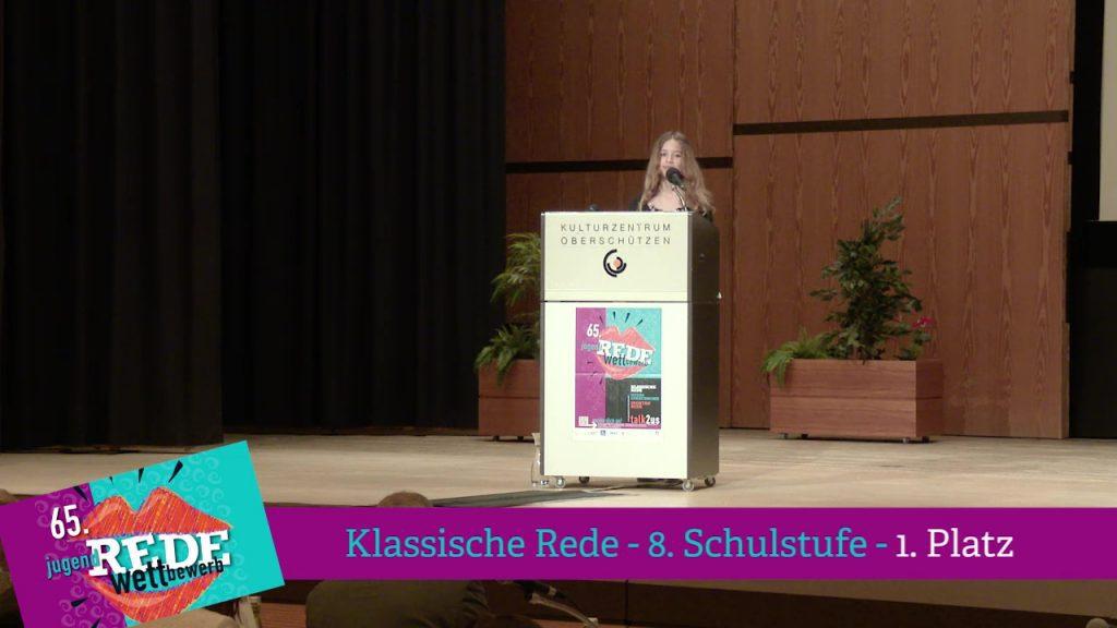 Klassische Rede 8. Schulstufe