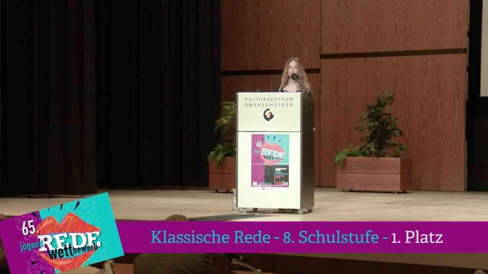 1. Platz Klassische Rede, 8.Schulstufe 2018
