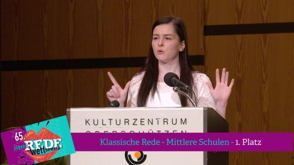 Klassische Rede – Mittlere Schulen 2018