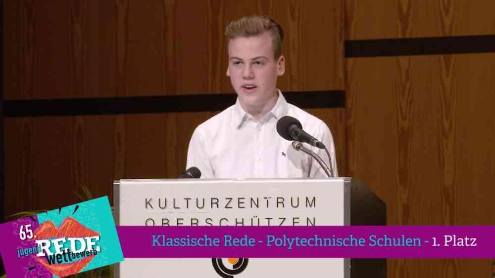 1. Platz Klassische Rede – Polytechnische Schulen 2018