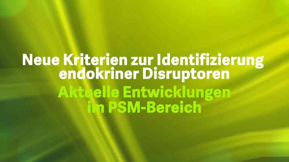 Neue Kriterien zur Identifizierung endokriner Disruptoren