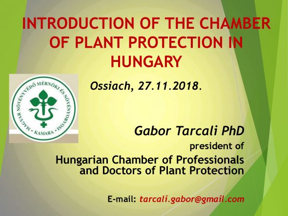 Introducion of the Chamber Of Plant Protection