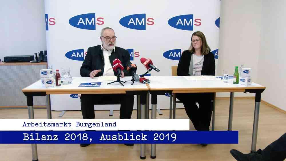 AMS Burgenland – Bilanz 2018, Ausblick 2019