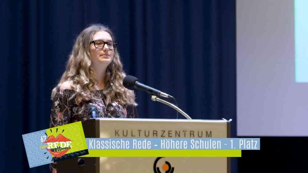 Redewettbewerb 2019 – Klassiche Rede – Höhere Schulen