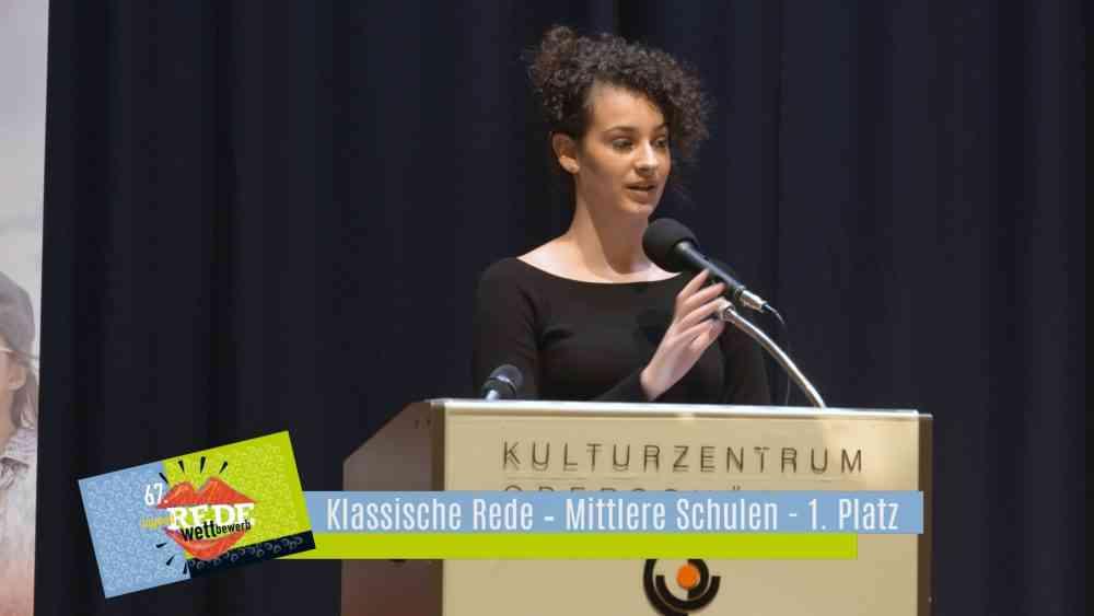 Redewettbewerb 2019 – Klassische Rede – Mittlere Schulen