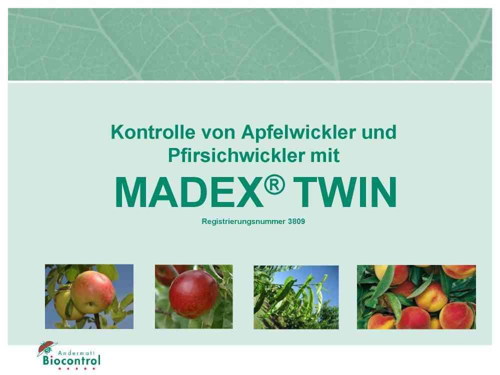 Kontolle von Apfelwickler und Pfirsichwickler mit MadexTwin