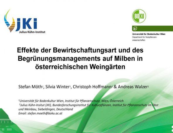 Effekte der Bewirtschaftungsart und des Begrünungsmanagements auf Milben in österreichischen Weingärten