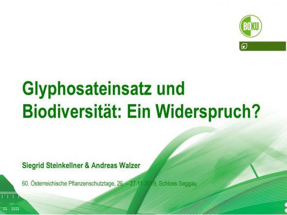 Glyphosateinsatz und Biodiversität