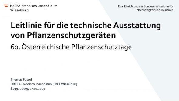 Leitlinie für die technische Ausstattungvon Pflanzenschutzgeräten