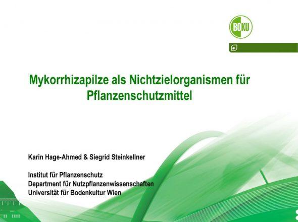 Mykorrhizapilze als Nichtzielorganismen für Pflanzenschutzmittel