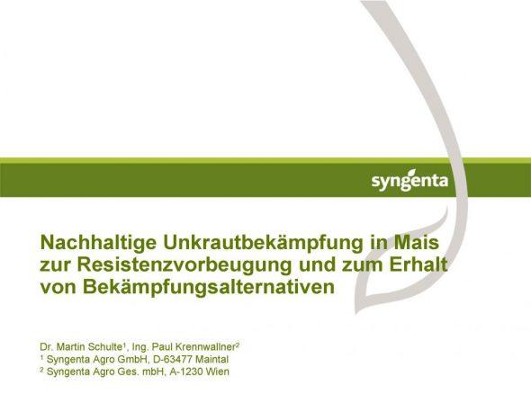Nachhaltige Unkrautbekämpfung in Mais zur Resistenzvorbeugung und zum Erhalt von Bekämpfungsalternativen