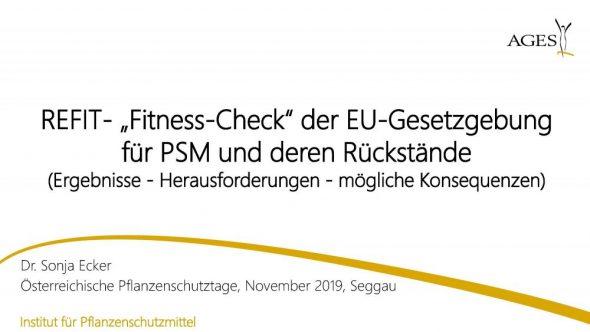 """REFIT-""""Fitness-Check"""" der EU-Gesetzgebung für PSM und deren Rückstände"""
