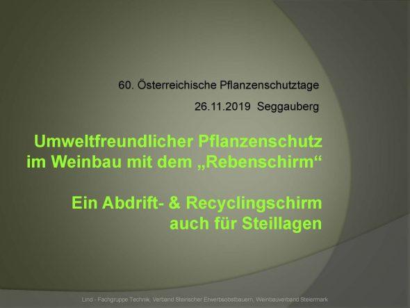 """Umweltfreundlicher Pflanzenschutz im Weinbau mit dem """"Rebenschirm"""""""