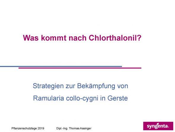 Was kommt nach Chlorthalonil?