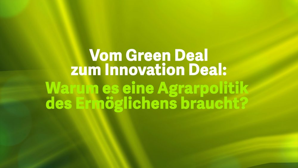 Vom Green Deal zum Innovation Deal